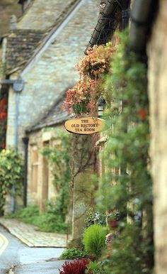 The Old Rectory Tea Room in Castle Comb, England - what I associate with England, beautiful quaint buildings and tea