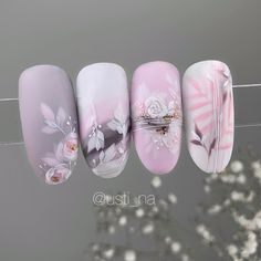 Easy to try nail trends, look here is enough - Inspiration Diary Nail Art Wheel, Water Color Nails, Nail Stencils, Nail Art Techniques, Nagellack Trends, Cute Nail Art Designs, Pink Nail Art, Diamond Nails, Best Acrylic Nails