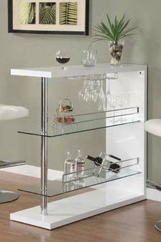 Bar Table with Two Glass Shelves in Gloss White Finish by Coaster Home Furnishings, http://www.amazon.com/dp/B0062CHFEY/ref=cm_sw_r_pi_dp_Trmtsb1FG09PQ