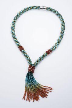 Adrienne Gaskell Toho Beads Presents: Desert Sunset - Bead&Button Show Beaded Jewelry, Handmade Jewelry, Beaded Necklace, Beaded Bracelets, Necklaces, Jewellery, Diy Bordados, Braids With Beads, Passementerie