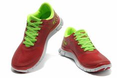 Nike Free 4.0 V2 Homme 004 [NIKEFREE 029] - €61.99 Nike Free 3, Nike Free Runs, Red Sneakers, Sneakers Nike, Green Shoes, Nike Dunks, Red Green, Nike Men, Nike Air Max