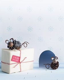 Pinecone Mouse   Step-by-Step   DIY Craft How To's and Instructions  Martha Stewart
