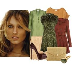 Your best colors are: Salmon, khaki, powder, olive green, moss, caramel, camel, purple