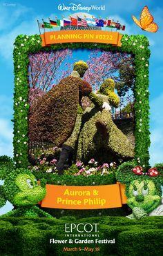 Walt Disney World Planning Pins: Aurora & Prince Phillip