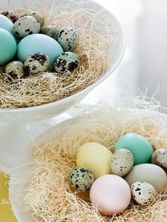 For a festive table display, create this Easter Grass-and-Eggs Centerpiece!