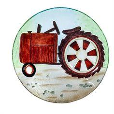 "Bird Bath Farm Tractor Glass Bowl 18"" #farmhouse  #farmhousedecor  #birdbath"
