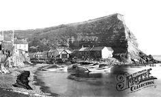 Photo of Staithes, c1882