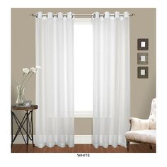 Shop for Luxury Collection Venetian Sheer Curtain Panel Pair - 100 x Get free delivery On EVERYTHING* Overstock - Your Online Home Decor Outlet Store! Get in rewards with Club O! Voile Panels, Sheer Curtain Panels, Grommet Curtains, Sheer Curtains, Window Curtains, Elegant Curtains, Curtain Texture, Valances, Window Panels