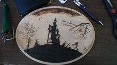 Halloween Decor, Wood Burned Handmade by 5280artsandcrafts on Etsy