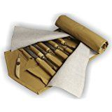 Werkzeugtasche, Rolltasche für 40 Schnitzwerkzeuge (Schnitzeisen, Schnitzmesser)