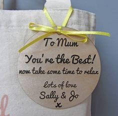 Personalised 'Time for Yourself' pamper bag, an original way to say spoil or say 'thank you' to someone special, a perfect gift for mums, new mums, bridesmaids, sisters or friends.