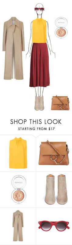 """""""September sun"""" by ellasophialove ❤ liked on Polyvore featuring Joseph, Chloé, Clinique, Aquazzura, Victoria Beckham and Cutler and Gross"""