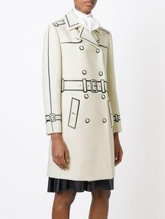 Boutique Moschino Trompe L'oeil Double Breasted Coat - Al Ostoura - Farfetch.com