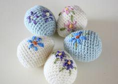 Flowery Easter Eggs Amigurumi Pattern