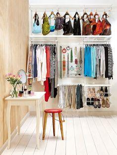 Ideas para mantener el orden en tus armarios, excelente.
