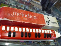 vintage hohner melodica. The melodica, also known as the pianica, blow-organ or key-flute, is a free-reed instrument similar to the melodion and harmonica