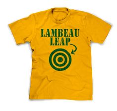 Lambeau leap t-shirt by PurebredCheesehead on Etsy GO PACK GO!