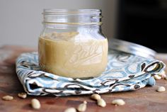Really easy and healthy homemade peanut butter from simplyscratch.com  (love the choice of coconut oil or grapeseed)