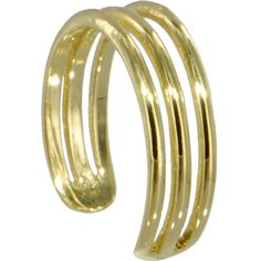 14kt GOLD Cubic TRIPLE LINE Toe Ring | Body Candy Body Jewelry