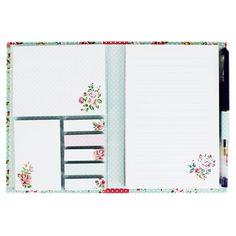 Vintage Floral Sticky Notes Folder