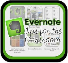 Use Evernote to organize your materials and ideas, professional development articles, student work samples, and more!