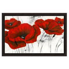Found it at Wayfair - Big Red Poppies' 2 Piece Framed Graphic Art Print Set Under Glass Painting Frames, Painting Prints, Art Print, Oil Paintings, Painting Walls, Flower Paintings, Wall Art Sets, Wall Art Decor, Mandala Art