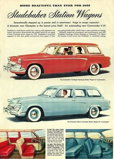 History - My Favorite late Family Wagons Vintage Advertisements, Vintage Ads, Retro Ads, Automobile Companies, Ad Car, Car Brochure, American Classic Cars, Car Posters, Car Advertising