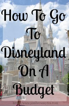 You Brew My Tea: How To Go To Disneyland On A Budget