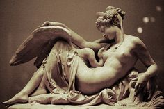 Leda and the Swan by Albert-Ernest-Carrier Belleuse, ca. 1870