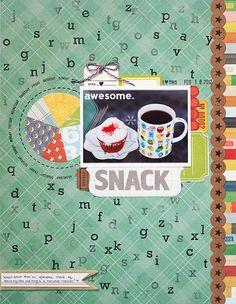 Studio Calico - story hour kit - by Geralyn Sy Disney Scrapbook Pages, Scrapbook Sketches, Scrapbook Page Layouts, Scrapbook Paper Crafts, Scrapbook Photos, Scrapbooking Ideas, Studio Calico, Picture Layouts, Recipe Scrapbook