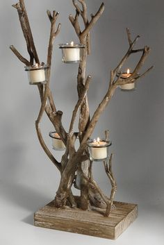 tea light tree #Save-on-crafts