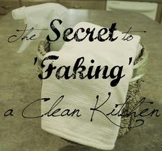 The Secret to 'Faking' a Clean Kitchen.