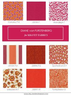 Designer Fabrics, Kravet Fabrics, Diane Von Furstenberg Home Fabrics, upholstery fabric, Online Interior Design Services, e-interior design, http://www.stellarinteriordesign.com/diane-von-furstenberg-home-fabrics/