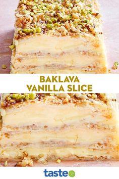 Custard Recipes, Puff Pastry Recipes, Tart Recipes, Sweet Recipes, Baking Recipes, Greek Desserts, No Cook Desserts, Delicious Desserts, Yummy Food
