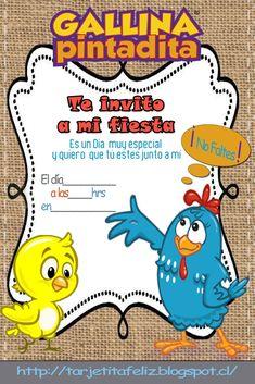 invitaciones de la gallina pintadita - Buscar con Google