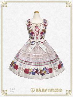 Polonaise Brillante ~Ideas of Maiden~ Apron JSK by Baby, the Stars Shine Bright Lolita Dress, Lolita Fashion, Grosgrain, Jumper, Apron, Bright, Stars, Elegant, Pretty