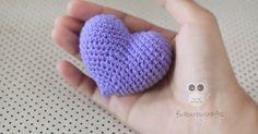 fukuroucrafts: Crochet Heart, Pattern Crochet Heart, Free Pattern Crochet Heart, แพทเทิร์น โครเชต์ หัวใจ