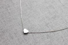Cute tiny Heart  charm Necklace  S2109 1 by Ringostone on Etsy, $12.00
