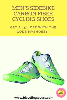 Cycling shoes suitable for road cyclists of all levels. A highly professional design that adapts to the most demanding demands of cyclists.  Find out more details by visiting us and Get a 15% OFF with the discount code MYSHOES15.  #bicyclinglovers #shoes #cycling #fun #fashion