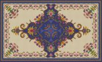 Gallery.ru / Фото #3 - Floral Blue Rug - azteca