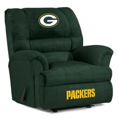 """Slide into the the best seat in the house! Green Bay Packers """"Big Daddy"""" Recliner Nfl Green Bay, Green Bay Packers, Nfl Packers, Tampa Bay Rays, Kansas City Royals, Oakland Athletics, Big Daddy, Detroit Lions"""