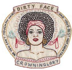 Jenny Hart's embroidery art.