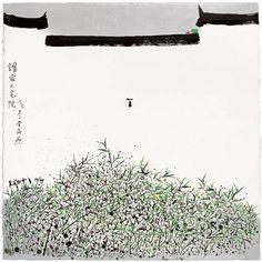 吳冠中 Wu Guanzhong (1919–2010)The swallow echausted