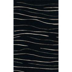 Dalyn Rug Co. Bella Black Area Rug Rug Size: 4' x 6'