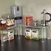 clear shelves--could be good for spices