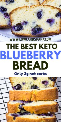 The Best Keto Blueberry Bread Recipe – net carbs This is the best keto blueberry bread recipes with an amazing texture and loaded with fresh and juicy blueberries. It's super easy to make and you'll need just a few low carb ingredients. Healthy Low Carb Recipes, Low Carb Desserts, Keto Recipes, Snack Recipes, Dessert Recipes, Dinner Recipes, Diabetic Deserts, Sweets Recipe, Dessert Healthy