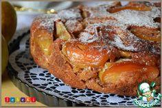 Перевернутый яблочный кекс в мультиварке - кулинарный рецепт