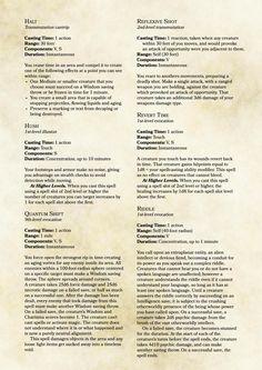 d&d 5e spell compendium pdf