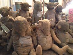 Original Handmades & Vintage Goods by aFineFarmhouse Old Teddy Bears, Vintage Teddy Bears, Vintage Toys, Charlie Bears, Love Bear, Bear Doll, Old Dolls, Needle Felted Animals, Plush Dolls