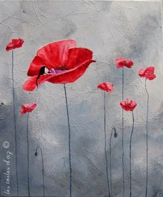Dreaming of poppies Art Floral, Art Fantaisiste, Poppies Tattoo, Spirited Art, Art Et Illustration, Office Art, Whimsical Art, Deviantart, Diy Art